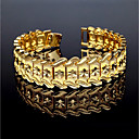 billiga Modearmband-Herr Manschett Armband Armband Vintage Dubai Italienska Koppar Armband Smycken Guld Till Gåva Casual / Guldpläterad