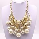 povoljno Modne ogrlice-Žene Privjesci dame Klasik Moda Imitacija bisera Legura Zlato Ogrlice Jewelry Za Angažman Svečanost