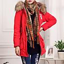 ราคาถูก ไฟฉายและตะเกียงสำหรับตั้งแคมป์-สำหรับผู้หญิง ทุกวัน สีพื้น ขนาดพิเศษ ปกติ Parka, ฝ้าย แขนยาว สีแดงชมพู / สีเหลือง / อาร์มี่ กรีน XL / XXL / XXXL