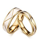 ราคาถูก แหวน-สำหรับผู้ชาย สำหรับผู้หญิง แหวน แหวนหมั้น ชุดแหวน สีทอง Titanium Steel Stylish งานแต่งงาน งานปาร์ตี้ / งานราตรี เครื่องประดับ