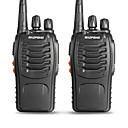 ราคาถูก วิทยุสื่อสาร-BAOFENG 2 Pcs BF-888S ขนาดพกพา เตือนเมื่อแบตตารี่ต่ำ / โปรแกรมซอฟต์แวร์คอมพิวเตอร์ / Voice Prompt 3กม-5กม 3กม-5กม 5 W เครื่องส่งรับวิทยุ วิทยุสองทาง / 400-470MHz / VOX / ที่จับเวลา / ล็อคช่องไม่ว่าง