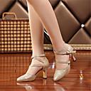 ราคาถูก รองเท้าเต้นโมเดิร์นและรองเท้าบัลเล่ต์-สำหรับผู้หญิง รองเท้าเต้นรำ หนังเทียม โมเดอร์น หินประกาย / หัวเข็มขัด รองเท้าแตะ / ส้น ส้นแบบกำหนดเอง ตัดเฉพาะได้ สีทอง / สีเงิน / มืออาชีพ