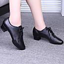 ราคาถูก รองเท้าผ้าใบเต้นรำ-สำหรับผู้หญิง รองเท้าเต้นรำ หนังเทียม โมเดอร์น / บอลล์รูม ลูกไม้ขึ้น / ฮอลโล่ออก ส้น ส้นต่ำ ดำ / แดง / EU39