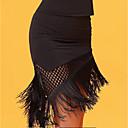 זול הלבשה לריקודים לטיניים-ריקוד לטיני חלקים תחתונים בגדי ריקוד נשים הצגה משי קרח פרנזים ללא שרוולים טבעי חצאיות
