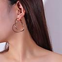 povoljno Modne naušnice-Žene Viseće naušnice Okrugle naušnice Srce slatko Naušnice Jewelry Zlato / Pink Za Spoj Ulica