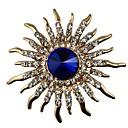 Χαμηλού Κόστους Μοδάτο Κολιέ-Γυναικεία Ζαφειρένιο Κρυστάλλινο Καρφίτσες Μοντέρνο κυρίες Κλασσικό Κρύσταλλο Προσομειωμένο διαμάντι Καρφίτσα Κοσμήματα Χρυσό Για Δώρο Καθημερινά