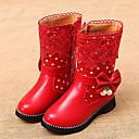 povoljno Dječje čizme-Djevojčice Udobne cipele / Čizme za snijeg Umjetna koža Čizme Mala djeca (4-7s) / Velika djeca (7 godina +) Hodanje Patent-zatvarač Crn / Crvena / Pink Zima / TR / EU36