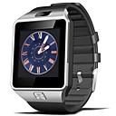 billige Smartklokker-dz09 smart klokke med kamera bt 4.0 Fitness Tracker støtte varsle kompatible Samsung / Sony Android-telefoner og iPhone