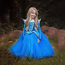 povoljno Movie & TV Theme Costumes-Aurora Haljine Dječji Djevojčice Božić Halloween Maškare Festival / Praznik Polyster Plava / Pink Karneval kostime Color block / Haljina / Haljina