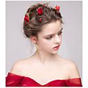 povoljno Party pokrivala za glavu-Flocked Cvijeće / Kosa za kosu s Cvijet 1pc Vjenčanje / Special Occasion / godišnjica Glava
