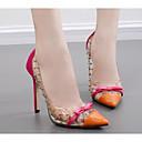 baratos Sapatos de Salto-Mulheres Saltos Salto Agulha Couro Ecológico Conforto Primavera / Outono Preto / Laranja / Azul / EU40
