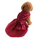 billiga Hundkläder-Hund Klänningar Hundkläder Röd Blå Kostym Bichon Frisé Schnauzer Pekinges Terylen Enfärgad Paljett Semester Bröllop Mode XS S M L XL