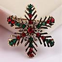 povoljno Religijski nakit-Broševi Pahulja Moda Broš Jewelry Zlato Za Božić Dar