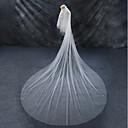 povoljno Seksi donje rublje-Two-tier Crkveni Vlak / Cut Edge / Imitacija bisera Vjenčani velovi Katedrala Burke s Faux Pearl Til / Angel cut / Vodopad