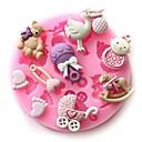 Χαμηλού Κόστους Είδη Ψησίματος-μωρό κόμμα σιλικόνης μούχλα μωρό σοκολάτα σαπούνι σκάφος μούχλα DIY εργαλεία ψήσιμο