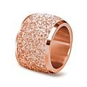 billiga Moderingar-Dam Bandring Eternity Ring Silver Rosguld Rostfritt stål Cirkel Form Klassisk Vintage Bröllop Ceremoni Smycken