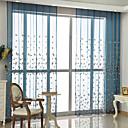 Χαμηλού Κόστους Κούρτινες Παραθύρου-Αποχρώσεις διάφανες κουρτίνες Υπνοδωμάτιο Φλοράλ Πολυεστερικό Blend Κεντήματα