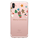 cheap iPhone Cases-Case For Apple iPhone XS / iPhone XR / iPhone XS Max Transparent / Pattern Back Cover Christmas Soft TPU