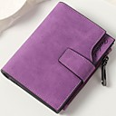 ราคาถูก กระเป๋าตังค์-สำหรับผู้หญิง กระดุม PU กระเป๋าเงิน สีน้ำตาล / สีเทาเข้ม / สีเทาอ่อน