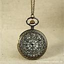baratos Chaveiros-Casal Relógio de Bolso Quartzo Dourada Gravação Oca Relógio Casual Legal Analógico Casual Caveira Steampunk - Dourado