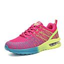זול נעלי ספורט לנשים-בגדי ריקוד נשים נעלי אתלטיקה שטוח בוהן עגולה טול נוחות ריצה אביב / סתיו אפור / סגול / פוקסיה / קולור בלוק / EU39