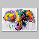 povoljno Slike sa životinjskim motivima-Hang oslikana uljanim bojama Ručno oslikana - Životinje Životinje Moderna Uključi Unutarnji okvir / Prošireni platno