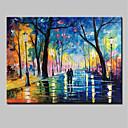 baratos Pinturas Abstratas-Pintados à mão Paisagem Horizontal, Modern Tela de pintura Pintura a Óleo Decoração para casa 1 Painel