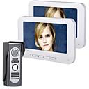 Χαμηλού Κόστους Συστήματα Ενδοεποικινωνίας Θυροτηλεόρασης-Mountainone 7 ιντσών tft 2 οθόνες βίντεο πόρτα τηλέφωνο πόρτα κουδούνι ενδοεπικοινωνία 1-κάμερα lcd οθόνη παρακολούθησης νυχτερινή όραση με hd 700tvl τοίχου κάμερα τοποθέτηση hands-free