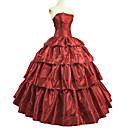 Χαμηλού Κόστους Στολές της παλιάς εποχής-Μπολερό Rococo Victorian Στολές Φορέματα Σύνολα Χορός μεταμφιεσμένων Κόκκινο Πεπαλαιωμένο Cosplay Ταφτάς Κοντομάνικο Μπαλούν Μέχρι τον αστράγαλο Βραδινή τουαλέτα