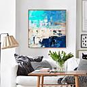 povoljno Apstraktno slikarstvo-uramljena umjetnost ispis uramljena platna tisak tirkizno plava apstraktna umjetnost slikarstvo platno zid umjetnosti