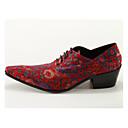 ราคาถูก รองเท้าแตะ & Loafersสำหรับผู้ชาย-สำหรับผู้ชาย รองเท้าอย่างเป็นทางการ หนังสัตว์ ฤดูใบไม้ผลิ / ตก Chinoiserie รองเท้า Oxfords สีบานเย็น / งานแต่งงาน / พรรคและเย็น / พรรคและเย็น / Novelty Shoes