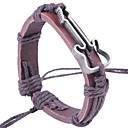 billiga Modearmband-Herr Armringar Läder Armband Rep Musik Guitarr Vintage Mode Läder Armband Smycken Svart / Kaffe Till Street Utekväll