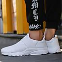 ราคาถูก รองเท้ากีฬาสำหรับผู้ชาย-สำหรับผู้ชาย Light Soles ถัก / ตารางไขว้ ตก / ฤดูหนาว ความสะดวกสบาย รองเท้าผ้าใบ ขาว / สีดำ / แดง