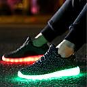 baratos Sapatos Esportivos Femininos-Mulheres Tênis Tule / Tecido LED / Conforto / Tênis com LED Caminhada Outono / Inverno Preto / Vermelho / Cinzento / EU40