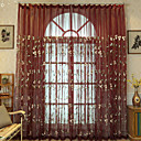 Χαμηλού Κόστους Κούρτινες Παραθύρου-εξοικονόμηση ενέργειας καθαρή κουρτίνες αποχρώσεις δύο πάνελ / κεντήματα / υπνοδωμάτιο / κρεβατοκάμαρα