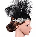 povoljno Stare svjetske nošnje-Veliki Gatsby Traka za kosu u stilu 20-ih 1920-te / Roaring 20s Žene Crn Umjetno drago kamenje / Perje Party Prom Cosplay pribor Maškare Kostimi