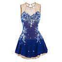 Χαμηλού Κόστους Παιδικά Ρούχα Χορού-Φόρεμα για φιγούρες πατινάζ Γυναικεία Κοριτσίστικα Patinaj Φορέματα Σκούρο κόκκινο Βιολετί Λευκό Λουλούδι Open Back Spandex Ελαστίνη Ανταγωνισμός Ενδυμασία πατινάζ Χειροποίητο Jeweled Στρας