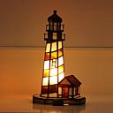 זול מנורות שולחן-טיפאני סגנון קטן מנורת שולחן עבור זכוכית 110-120V / 220-240V