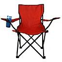 Χαμηλού Κόστους Έπιπλα Κατασκήνωσης-Καρέκλες Ψαρέματος Πτυσσόμενη καρέκλα κάμπινγκ Κάθισμα καμπίνας με υποβραχιόνιο με κάτοχο ποτηριών Φορητό Πτυσσόμενο Αναδιπλούμενο Oxford Πανί Κράμα Ατσαλιού για 1 άτομο Ψάρεμα Παραλία Κατασκήνωση