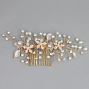 Χαμηλού Κόστους Αξεσουάρ κεφαλής για πάρτι-Απομίμηση Μαργαριταριού / Στρας / Κράμα Κομμάτια μαλλιών με Τεχνητό διαμάντι / Κρυσταλλάκια / Ψεύτικο Μαργαριτάρι 1pc Γάμου / Ειδική Περίσταση Headpiece