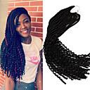 Χαμηλού Κόστους Πλεξούδες μαλλιών-Μαλλιά για πλεξούδες Σγουρά Bouncy Curl Με βελονάκι Dread Locks Dreadlocks / Faux Locs Συνθετικά μαλλιά 1 κουτί / πακέτο 24 ρίζες / πακέτο μαλλιά Πλεξούδες Ombre Επέκταση Dreadlock
