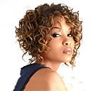 Χαμηλού Κόστους Συνθετικές περούκες χωρίς σκουφί-Συνθετικές Περούκες Σγουρά Σγουρά Περούκα Ξανθό Μεσαίο Μαύρο και Χρυσό Συνθετικά μαλλιά Γυναικεία Μαλλιά με ανταύγειες Μαλλιά μπαλαγιάζ Με τα Μπουμπούκια Ξανθό