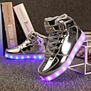 billige LED Sko-Jente LED / Komfort / Lysende sko Lakklær / Kustomiserte materialer Treningssko Små barn (4-7år) / Store barn (7 år +) Gange Snøring / Hekte / LED Svart / Gull / Sølv Vår / Vinter / Termoplast / EU36