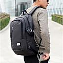 Χαμηλού Κόστους Σχολικές τσάντες-Νάιλον Φερμουάρ Σχολική τσάντα Καθημερινά Μαύρο / Γκρίζο / Φθινόπωρο & Χειμώνας