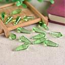 billige Tråd og ståltråd-DIY Smykker 10 stk Perler Glass Lilla Rose Rosa Brun Grønn Lyseblå Dråper Perlene 0.8 cm DIY Halskjeder Armbånd