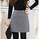 povoljno Ženske čizme-Žene A kroj Ležerne prilike Izlasci Pamuk Suknje - Jednobojni Zima Crn Sive boje Lila-roza M L XL