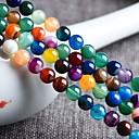 baratos Miçangas-Jóias DIY 48 pçs Contas Ágata Arco-íris Redonda Bead 0.8 cm faça você mesmo Colar Pulseiras