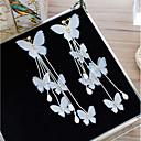 baratos Brincos-Mulheres Cristal Brincos com Clipe Flor Com Laço Elegante Brincos Jóias Branco Para Casamento Feriado 1