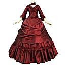 povoljno Stare svjetske nošnje-Marie Antoinette Flocking Rococo Viktoriánus 18. stoljeće Haljine Povorka maski Promocija zabave Žene Kostim Crvena Vintage Cosplay Do poda Krinolina Veći konfekcijski brojevi Prilagođeno
