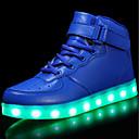 billige LED Sko-Gutt LED / Komfort / Lysende sko Kustomiserte materialer / Kunstlær Treningssko / Flate sko Små barn (4-7år) / Store barn (7 år +) Avslappet / Utendørs Snøring / Hekte / LED Svart / Hvit / Rød Vår